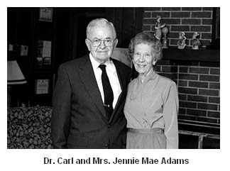 Dr. Carl and Mrs. Jennie Mae Adams