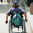 Wheel chair back image