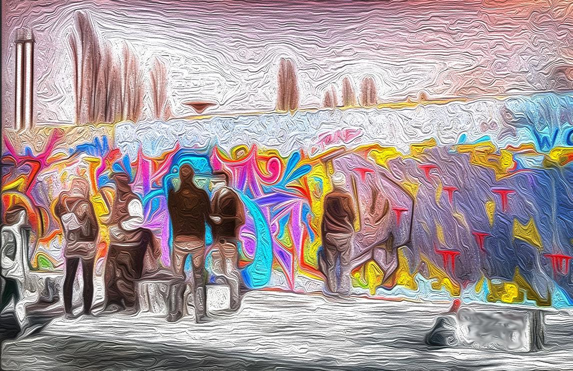 Stylized Graffiti Wall Art