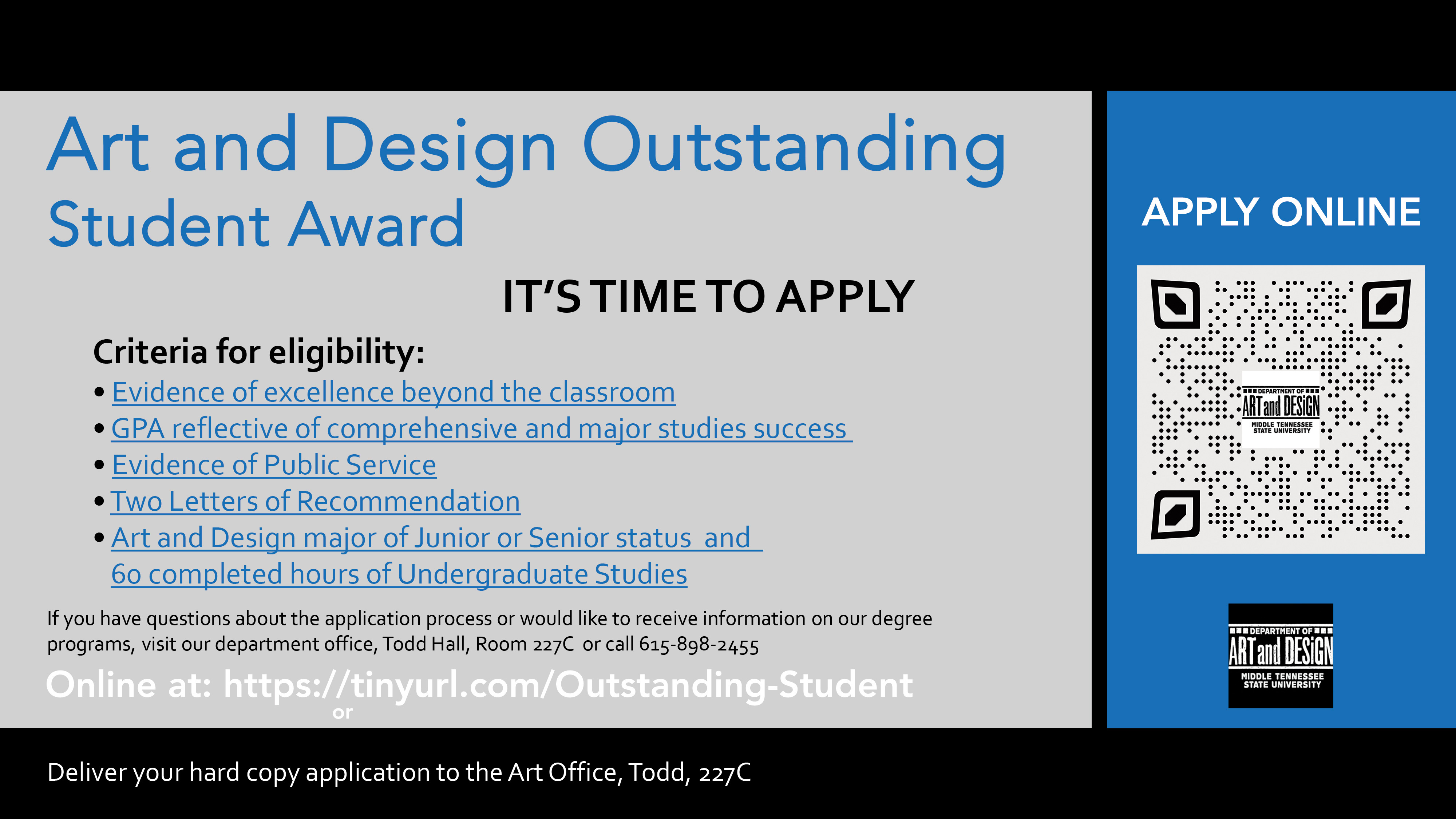 Art and Design Outstanding Student Criteria Image