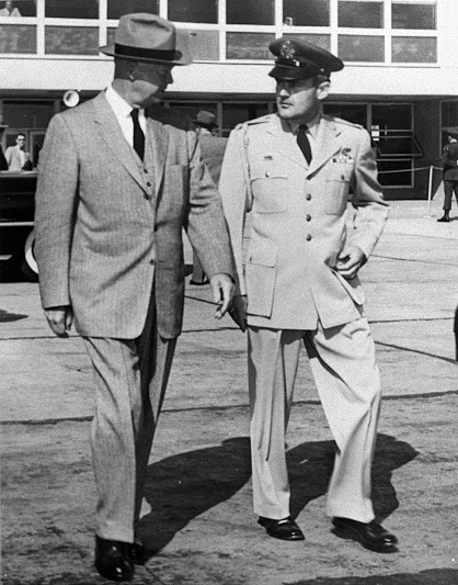 Col. Bill Thomas with Dwight D. Eisenhower