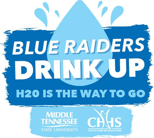 Blue Raiders Drink Up Logo