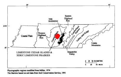 Limestone Tennessee Map.Middle Tennessee Cedar Glades Michael Kauffmann