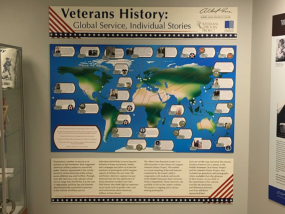 Veterans History display