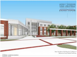 MTSU College of Behavioral and Health Sciences Academic Building Rendering