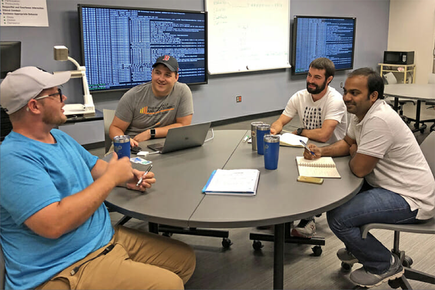 Students working in MTSU's Data Science Institute