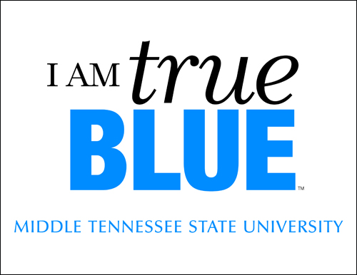 I am True Blue Sign - White