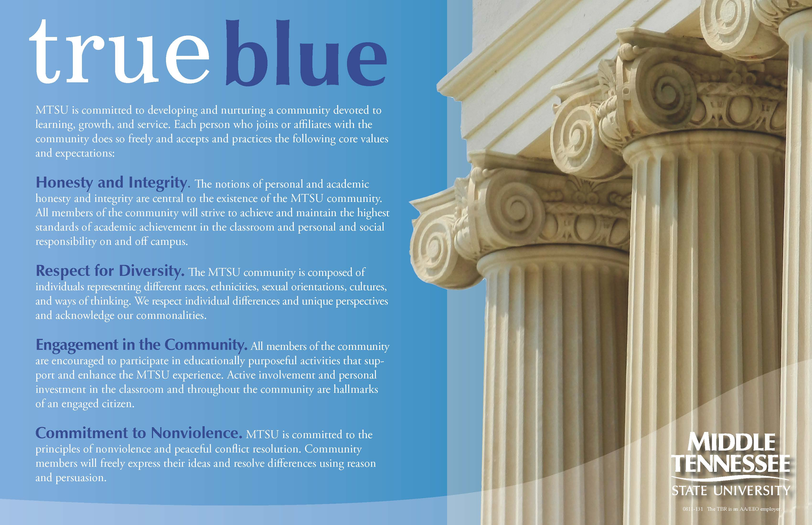 MTSU Community Values