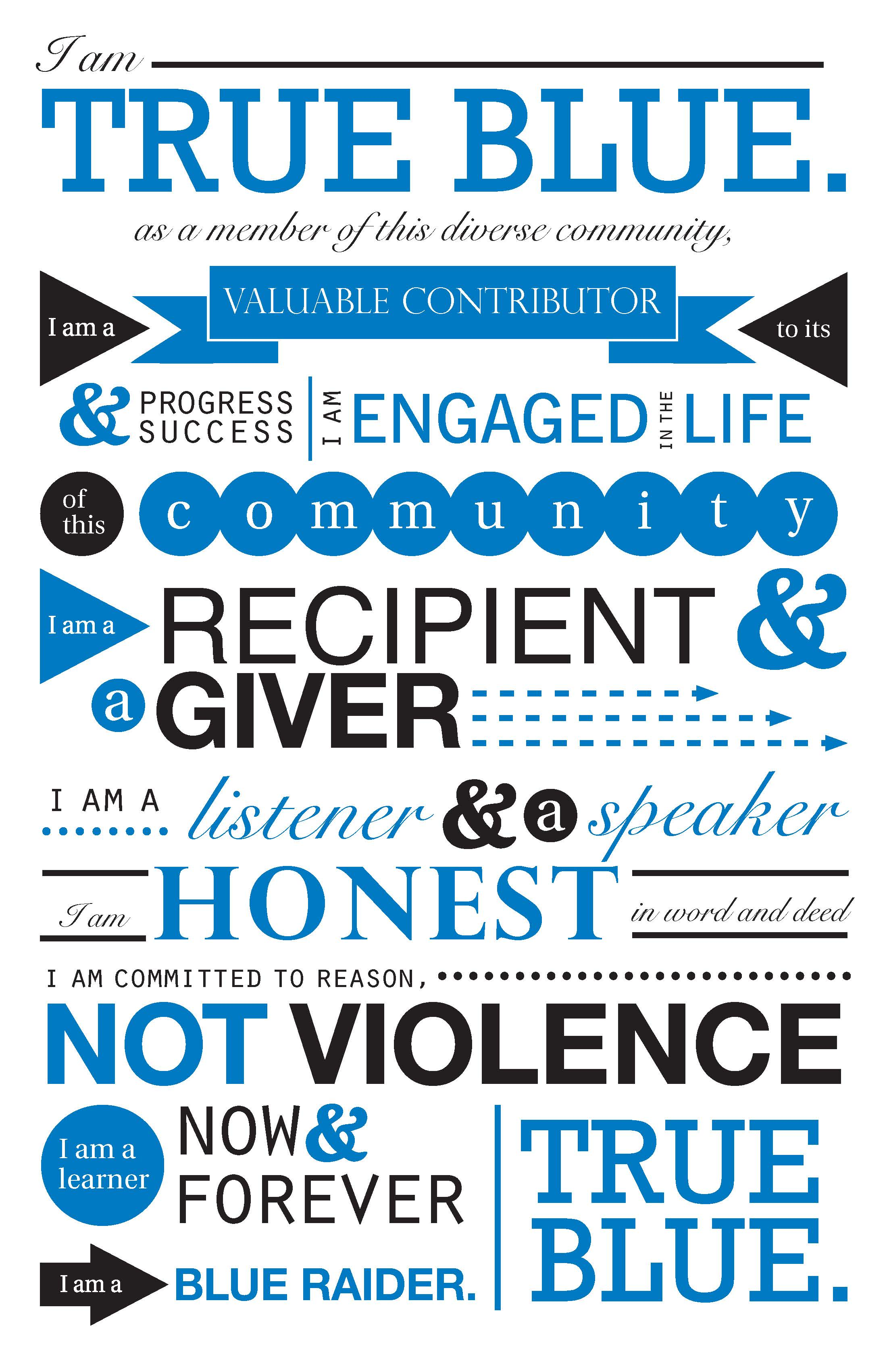True Blue Pledge - Poster