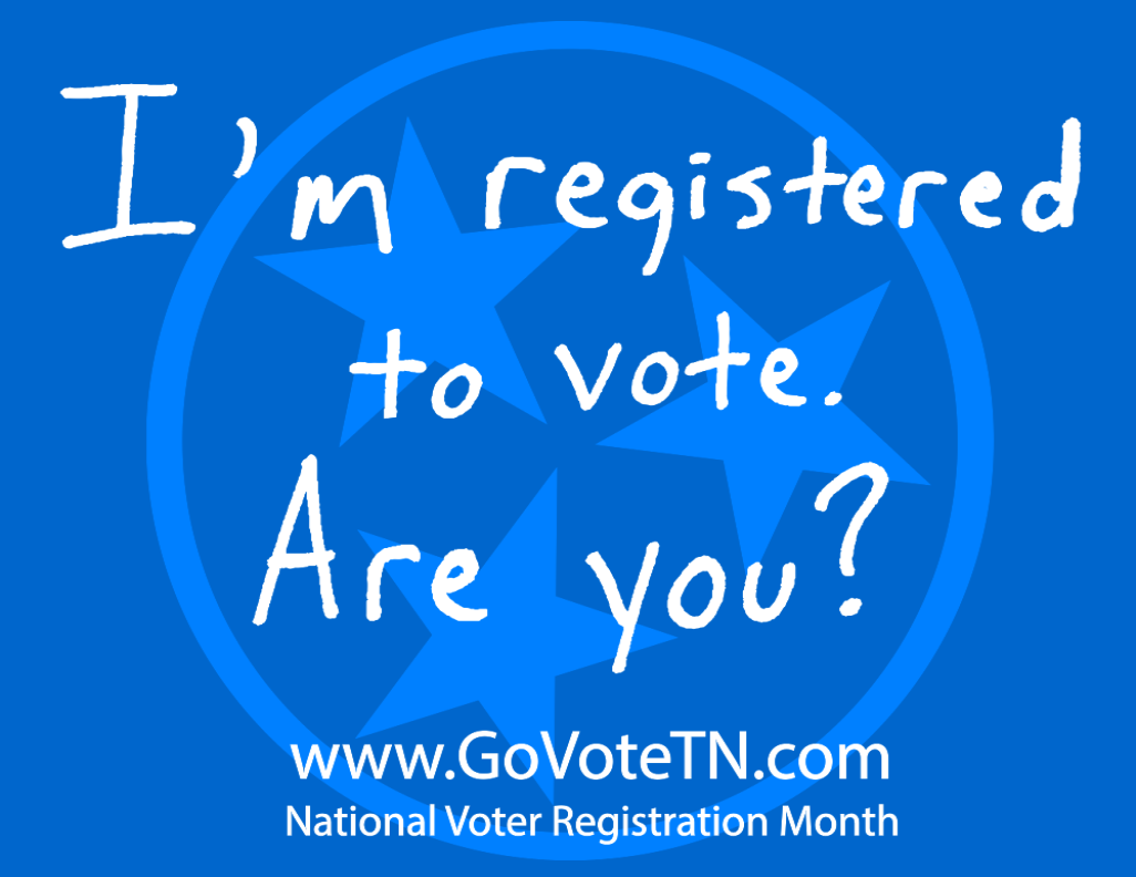 I'm registered to vote. Are you?